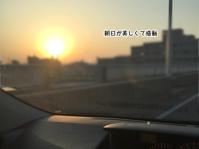 眩しい朝日