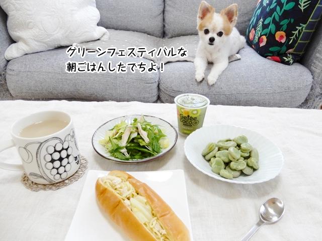 緑だらけの朝ごはん