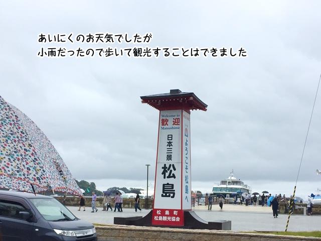 あいにくのお天気でしたが小雨だったので歩いて観光することはできました