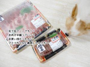 見て見てでちーー!!お肉が半額っていうお買い得だったからマミコちゃんと焼肉したんでちー!