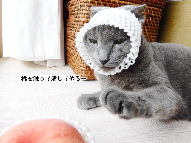 桃を触って潰してやるー