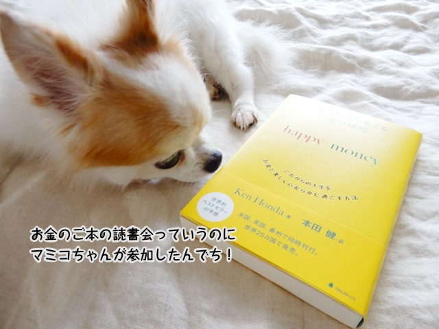 お金のご本の読書会っていうのにマミコちゃんが参加したんでち!