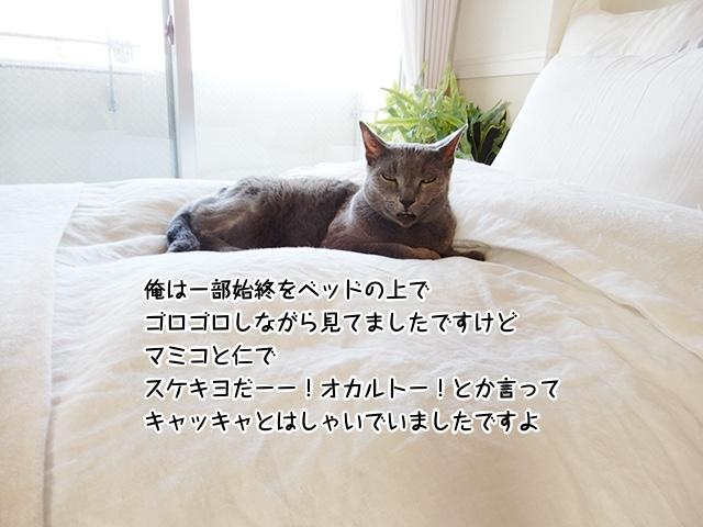 俺は一部始終をベッドの上でゴロゴロしながら見てましたですけど、マミコと仁で「スケキヨだーー!オカルトー!」とか言ってキャッキャとはしゃいでいましたですよ