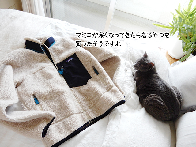 マミコが寒くなってきたら着るやつを買ったそうですよ。