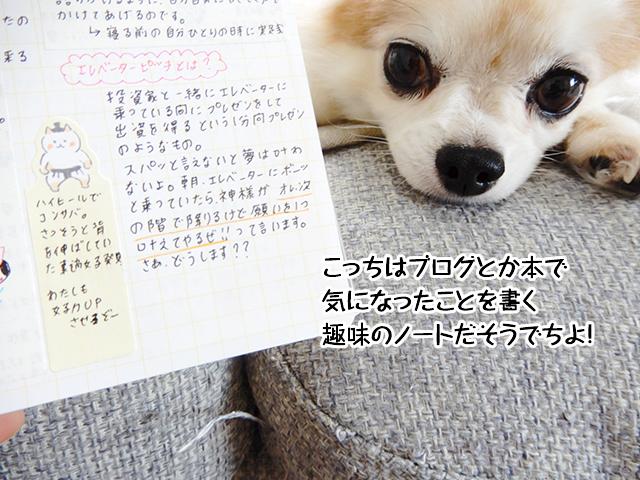 こっちはブログとか本で気になったことを書く趣味のノートだそうでちよ!