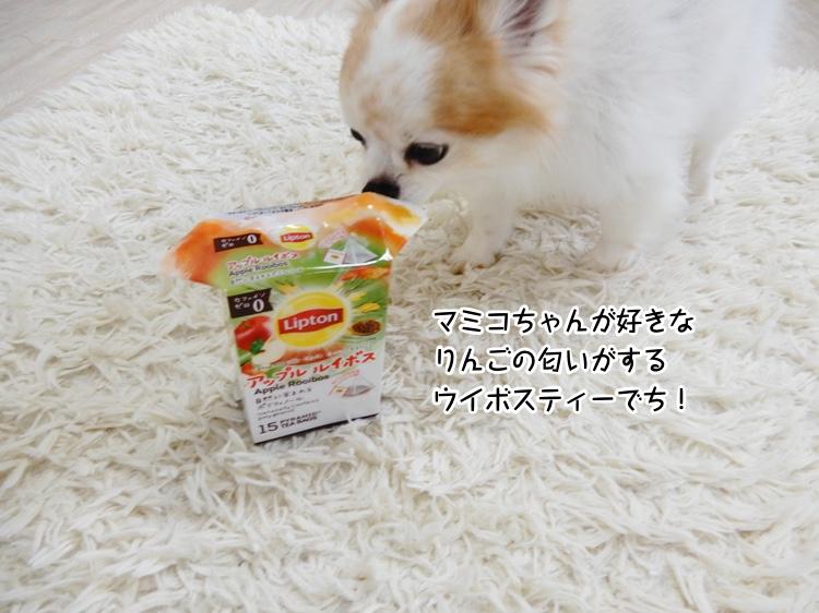 マミコちゃんが好きなりんごの匂いがするウイボスティーでち!