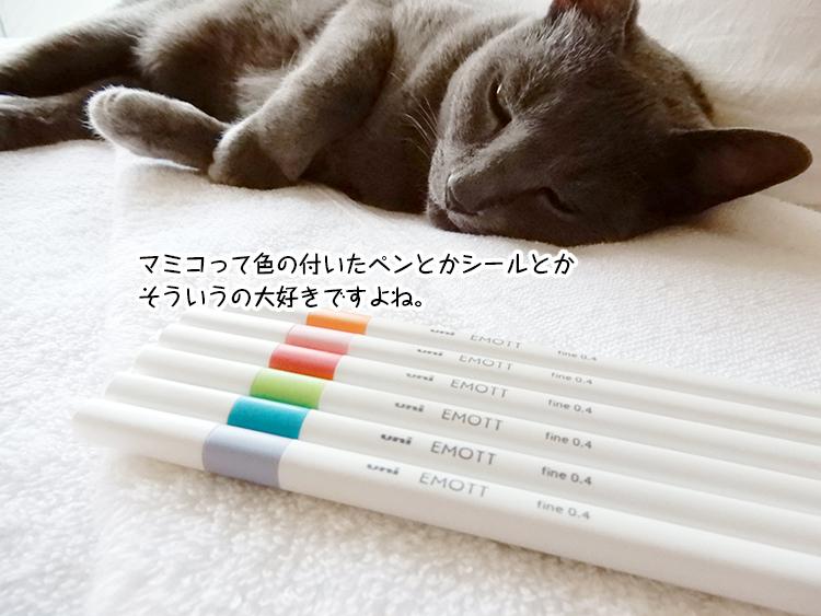 マミコって色の付いたペンとかシールとか そういうの大好きですよね。