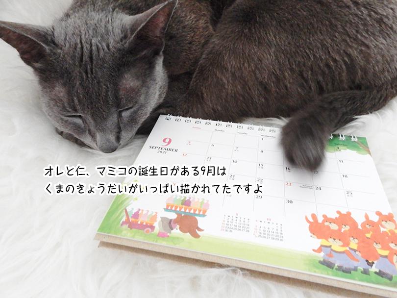 オレと仁、マミコの誕生日がある9月は くまのきょうだいがいっぱい描かれてたですよ