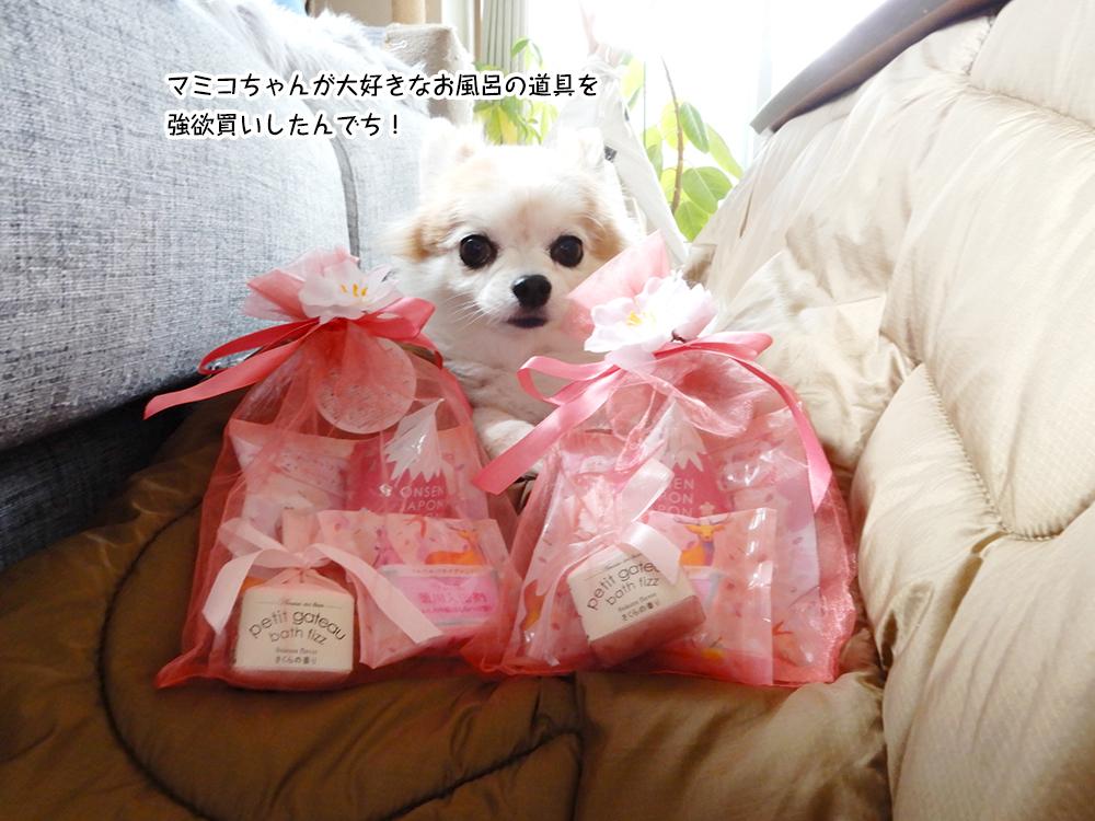 マミコちゃんが大好きなお風呂の道具を 強欲買いしたんでち!