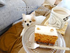 にんじんと乾燥ブドウの 大人っぽい味のケーキなんでち!!