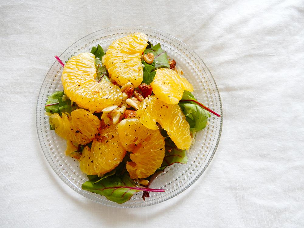 ニューサマーオレンジとベビーリーフのサラダ