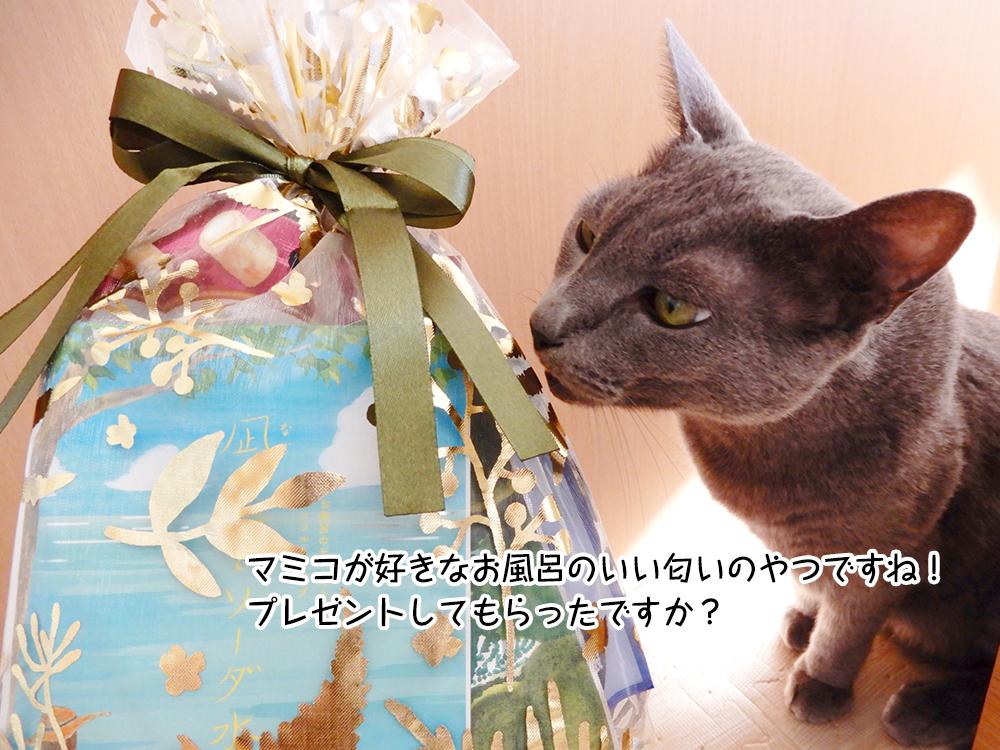 マミコが好きなお風呂のいい匂いのやつですね!プレゼントしてもらったですか?