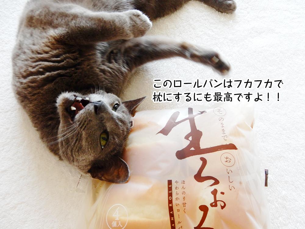 このロールパンはフカフカで枕にするにも最高ですよ!!
